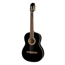 Salvador Cortez CC-10-BK Student Series classic guitar, cedar top, sapele back and sides, black