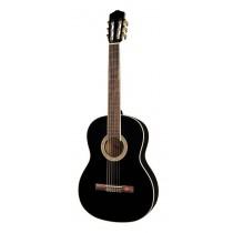 Salvador Cortez CC-10-BK Student Series classic guitar, cedar top, sapele back and sides, black