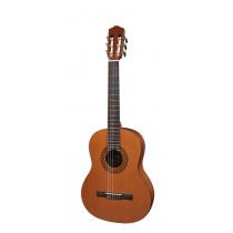 Salvador Cortez CC-22-JR Solid Top Artist Series classic guitar, solid cedar top, sapele back and sides, 3/4 junior model