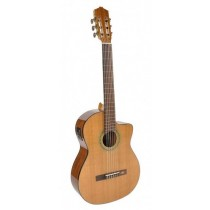Salvador Cortez CC-60CE Solid Top Concert Series classic guitar, solid cedar top, cutaway, Fishman ISY-201 electronics, with deluxe case
