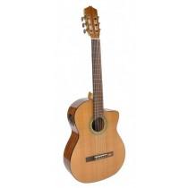 Salvador Cortez CC-60CE Solid Top Concert Series classic guitar, solid cedar top, cutaway, Fishman ISY-201 electronics, with deluxe case