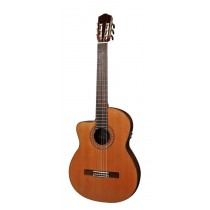 Salvador Cortez CC-60LCE Solid Top Concert Series classic guitar, solid cedar top, cutaway, Fishman ISY-201 electronics, with deluxe case, lefthanded