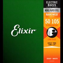 Elixir 14102 Nanoweb Nickel Plated Steel Bass Strings