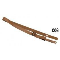 Steph Ukulele Strap UKL-31 COGNAC - Lærreim for ukulele