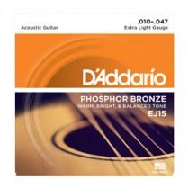 D'Addario EJ15 - Phos.Bronze (010-047)