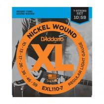 D'Addario EXL110-7 El. gitar strenger (7-strenger, 010-056)