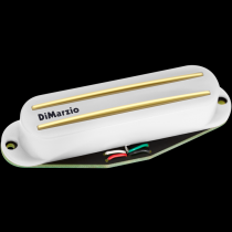 Dimarzio Satch Track Neck White Gold Rails
