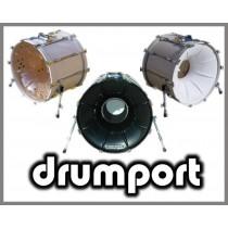 """Drumport 22"""" sølv"""
