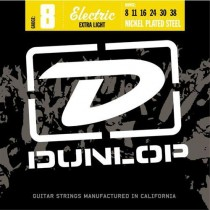 Dunlop DEN1006 - Nickel Plated Steel El.Gitarstrengesett, Extra Light 008-038