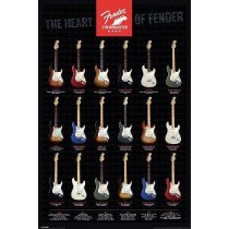 "Fender ""Stratocaster, The Heart of Fender"" Plakat 53"