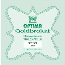 OPTIMA G.1200.3.4 Goldbrokat Cello Set 3/4