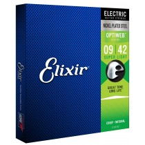 Elixir Electric Nickel Plated Steel Optiweb 009-042