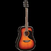 Eko RANGER6-BWN Dreadnought acoustic guitar, brown sunburst