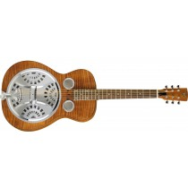 Dobro Hound Dog Deluxe Round Neck - Vintage Brown