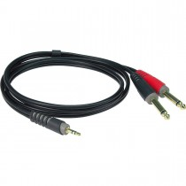Klotz AY5-0200 - 2m stereo minijack til 2 jack