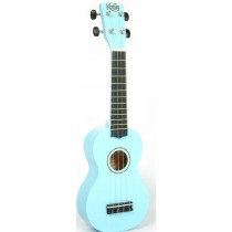 Korala UKS-30-LBU soprano ukulele with guitar machine heads, with bag, light blue