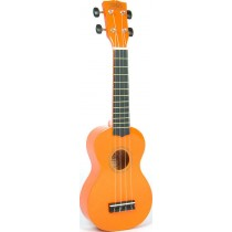 Korala UKS-30-OR soprano ukulele with guitar machine heads, with bag, orange