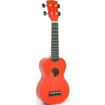 Korala UKS-30-RD soprano ukulele with guitar machine heads, with bag, red