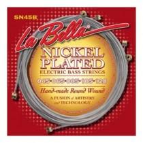 LaBella SN45-B Bass Set Nickel-Plated Round Wound Standard Lite 5 String 45-128 - 5-strengssett til el.bass