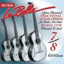 LaBella FG178 Classical Set Classical Fractional Guitar Size 7/8. Strengesett.