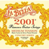 LaBella 2001FMT Flamenco Medium Tension Nylon Guitar Strings, Full Set
