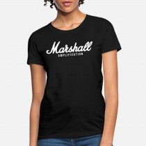 Marshall TSAMP01-F-BK-L T-Shirt - Dame - Large