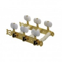 Salvador Cortez MH093GK-A1W genuine replacement part set of machine heads 3L3R, gold with pearloid pegs, for model 70