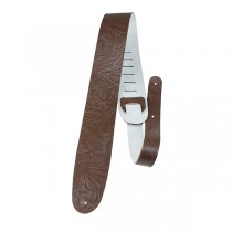 Perri's P25W-571 | 2.5″ Leather Western Flower Strap - Brown