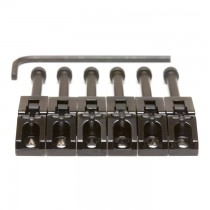 Graph Tech PG-0080-B6 String Saver Floyd Rose Style Saddles Black (6 Pcs)