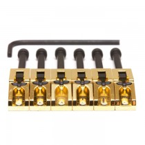 Graph Tech PG-0080-G6 String Saver Floyd Rose Style Saddles Gold (6 Pcs)