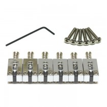 "Graph Tech PG-8000-0C - String Saver Strat & Tele style saddles - 2 1/16"" string spacing - Chrome"