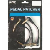 Klotz ubalansert pedal patch med vinkel jack 3 stk 15cm