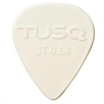 Graph Tech PQP-0068-W6 TUSQ Standard Pick .68mm White (Bright) - 6 Pack
