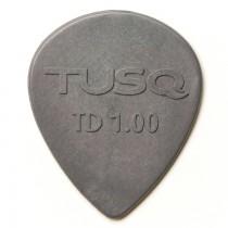 Graph Tech PQP-0501-G6 TUSQ Tear Drop Pick 1mm Gray (Deep) 6 Pack