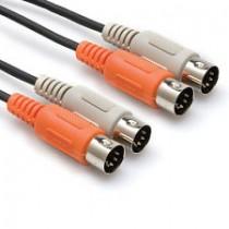 Hosa MID202 - Dual MIDI-kabel 2 m