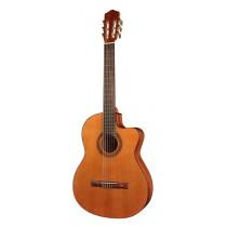 Salvador Cortez CC-10CE Student Series classic guitar, cedar top, sapele back and sides, Belcat electronics