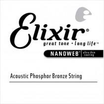 Elixir 14156 Nanoweb Acoustic Phosphor Bronze - Wound single string .056