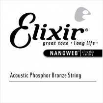 Elixir 14124 Nanoweb Acoustic Phosphor Bronze - Wound single string .024