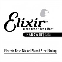 Elixir 15375 Nanoweb Electric Bass Single String .075 - Enkeltstreng til el.bass