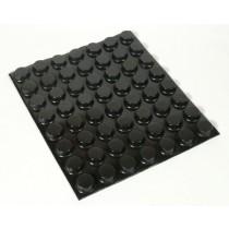 EHX Black Rubber Feet, 56 per sheet