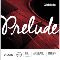 D'Addario Prelude J810 3/4M strengesett til fiolin 3/4 - Medium tension
