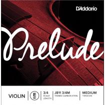D'Addario Prelude J811 3/4M E - Løs E-streng til fiolin