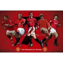 "Sportsplakat - Manchester United ""Magnificent Seven"""