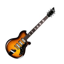 Supro The Hampton - Triple Pickup - Flame Maple Tobacco Burst