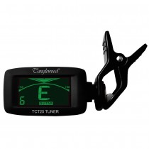 TANGLEWOOD TCT25BK Multi Tune Clip on Tuner for Guitar/Bass/CHROMATIC in Black Finish