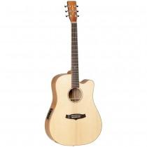 Tanglewood TWJD CE KOA Java Dreadnought akustisk gitar med pickup