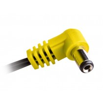 CIOKS Flex 3 - 5,5/2,5mm centre negative angled DC plug (yellow) 50cm