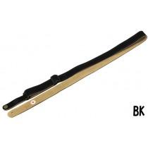 Steph Ukulele Strap UKSS-29 Black - Semsket skinnreim for ukulele