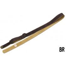Steph Ukulele Strap UKSS-29 Brown - Semsket skinnreim for ukulele