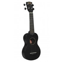 Korala UKS-30-BK soprano ukulele with guitar machine heads, with bag, black